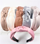 "1.5"" Solid  Natural Color Tones  Fashion Headbands w/ Knot .56 each"