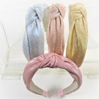 "1.5""  Shiney Metallic 4 color   Fashion Headbands w/ Knot .56 each"