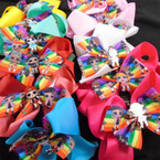 "5.5"" 2 Layer Gator Clip Bows w/  Cutie Girls  .56 each"