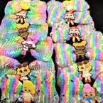 "5"" Pastel Sequin Gator Clip Bows w/  Cutie Girl  .56 each"