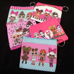 "4.5"" Fun Kids Theme Zipper Coin Purse w/ Keychain .56 each"