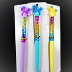 "8"" Baby Unicorn Ink Pens w/ Water & Glitter 12 per pk  .58 each"