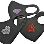 Black w/ Stone Hearts Face Masks Washable & Reusable 12 per pk  $1.25 ea