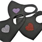 Black w/ Stone Hearts Face Masks Washable & Reusable 12 per pk  $1.25 ea