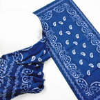 Multifunction Face Mask Navy Blue Bandana Print  (74390NV) 10 per pk .75 each