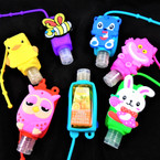 "3"" Asst Scent Hand Sanitizer Animal Lover Theme 12 per pk .65 ea"