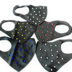 Black Fashion Face Mask Reusable w/ Acrylic  12 per pk   $ 1.50 each