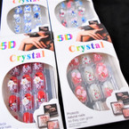NEW Decorated Fashion Nails 12 Pk Pre Glued Fashion Nails  .95 each set