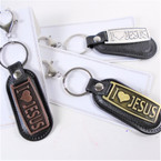"3""  I Love Jesus 2 Part Keychains w/ Clip  3 colors   .58 ea"