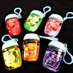 FLIP TOP Fruit Scented  Pocket Size Hand Sanitizer/Gel w/ White Clip  12 per pk  .62 each