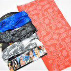 Multifunctional Scarf/Headwear /Face MASK Bandana Print Mixed Colors   .65  ea