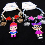KIDS Spring Style Fashion Charm Bracelets Gold/Sil (005) .54 each