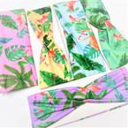 "3"" Tropical Flamingo,Palm Tree  Print Stretch Headbands   12 per pk   .58 each"