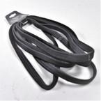 """6 Pack 6"""" Stretch Elastic Headbands All Black  .54 per set"""
