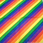 "21"" Square  Bandana/Mask Multi  Rainbow Stripe  .56 each"