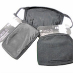 2 Layer Black Fabric  Cotton Lined Reusable/Washable  Protective Face Mask  12 per pk $ 1.25 each