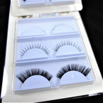 3 Pair Fashion Eye Lashes w/ Glue as shown (202)  .58 per set