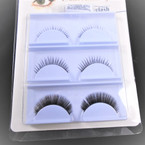3 Pair Fashion Eye Lashes w/ Glue as shown (205)  .58 per set