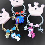 KID'S Unicorn/Pony Charm Theme Spring Style Fashion Bracelets Silver .56 each