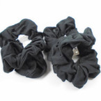 3 Pack All Black Color Cotton Hair Twister\ .54 per set