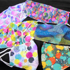 NEW 2 Layer Classy Dot Style Theme Adjustable Protective Face Mask  12 per pk $ 1.50 ea COMING THIS WEEK