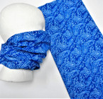 Multifunction Face Mask Scarf Royal Blue Paisley  Print  (74532RBL) 10 per pk .75 each