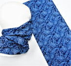 Multifunction Face Mask Scarf Navy Blue Paisley  Print  (74532NV) 10 per pk .75 each