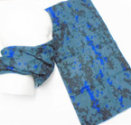 Multifunction Face Mask Scarf Blue Camo Digital Print  (74535) 10 per pk .75 each