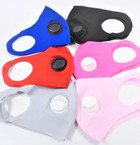 6- Asst Color  Face Masks w/ Vent Washable & Reusable 12  per pk  $1.50 each
