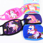 2 Layer Kids Unicorn Print Protective Face Mask   3-10  per pks $ 1.50 each mask