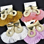 "3"" Fringe Style Fashion Earring w/ Gold Heart Top .54 per pair"