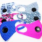 6 Style Lightweight  Face Masks w/ Vent Washable & Reusable 12  per pk  $1.25 ea