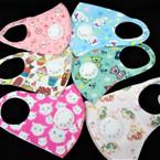 KIDS Face Masks Washable & Reusable w/ 6 Prints & Vent  .66 each