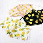 Adjustable 2 Layer w/ Filter Pocket  Protective Face Mask Pineapple Theme $ 1.50 each