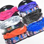 Carded Multifunctional Scarf/Headwear/ Mask  Bandana Print 6 colors   .66  each