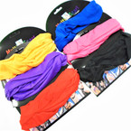 Carded Multifunctional Scarf/Headwear/ Mask Solids  6 Colors  .66  each
