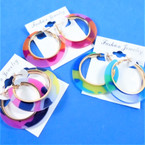 "1.75"" Acrylic Fashion Hoop Earrings Mixed Animal Prints  .54 per pair"