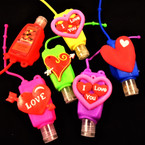 "3"" Mixed LOVE Theme Scented Hand Santizers 12 per pk  @ .58 each"