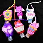 "3"" Mixed Style Hearts/Sweets  Scented Hand Santizers 12 per pk  @ .65 each"