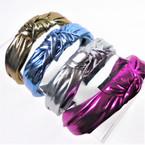 "1.5"" Metallic Fabri 4 Color  Mix  Fashion Headbands w/ Knot (2003R)  .56 each"