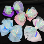 3 Layer Gator Clip Bows Metallic & Flake Lace  Mixed Colors .56 each