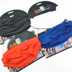 Carded Multifunctional Scarf/Headwear/ Mask  4- Colors as shown  .66  each