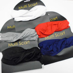 Carded Multifunctional Scarf/Headwear/ Mask  5 Color Mix as shown .69  each