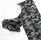 Multifunction Face Mask Scarf Desert Camo Green/Brown (74538) 10 per pk .75 each