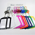 "4"" Asst Color Clip On Retractable ID Holder (Horizontal) .56 each"