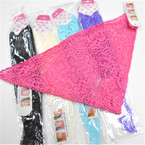 "12"" X 22"" Lace Style Net Headwraps Mixed Colors   12 per pk .25 each"