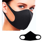Fashion Face Masks Washable & Reusable All Black  .62  each