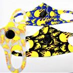 Hot Flames Theme Face Masks w/ Vent Washable & Reusable 12  per pk  $1.25 ea
