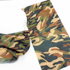 Multifunction Face Mask Scarf Camo w/ Blk  (60191A) 12 per pk .75 each
