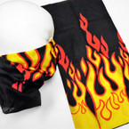 Multifunction Face Mask Scarf Super Flames  (60192H) 12 per pk .75 each